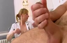 Hot Mature Nurse Gives A Hanjob