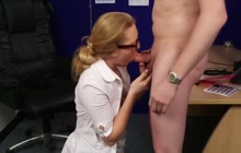 New Secretary Pleases Boss Orally