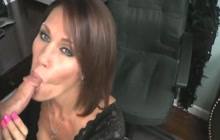 Horny MILF does a great blowjob