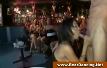 Girls sucking off stripper's cock